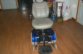 Jazzy 1122 modified 6″ seat elevation