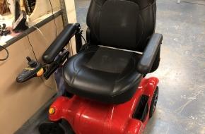 Cherry Red Merits P312 Power Wheelchair