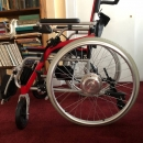 Electric power wheel chair foldable